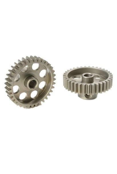 Team Corally - 48 DP Motortandwiel - Kort - Gehard staal - 35 Tanden - Motoras dia. 3.17mm