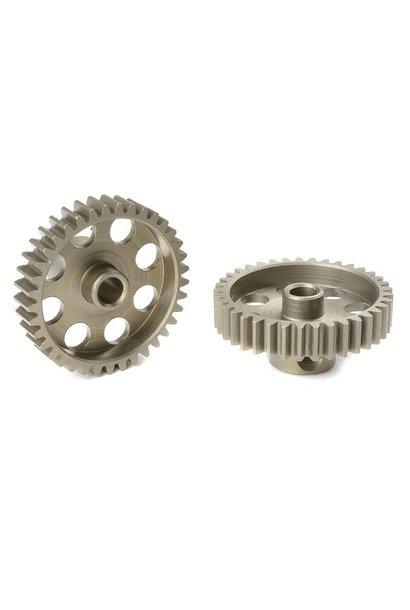 Team Corally - 48 DP Motortandwiel - Kort - Gehard staal - 37 Tanden - Motoras dia. 3.17mm