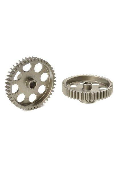 Team Corally - 48 DP Motortandwiel - Kort - Gehard staal - 44 Tanden - Motoras dia. 3.17mm