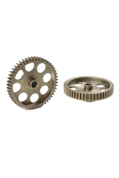 Team Corally - 48 DP Motortandwiel - Kort - Gehard staal - 50 Tanden - Motoras dia. 3.17mm