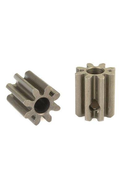Team Corally - 32 DP Motortandwiel - Kort - Gehard staal - 8 Tanden - Motoras dia. 3.17mm