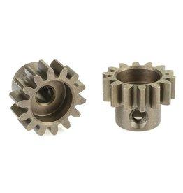 Team Corally Team Corally - 32 DP Motortandwiel - Kort - Gehard staal - 14 Tanden - Motoras dia. 3.17mm