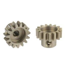 Team Corally Team Corally - 32 DP Motortandwiel - Kort - Gehard staal - 15 Tanden - Motoras dia. 3.17mm
