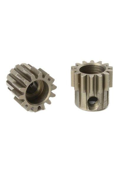 Team Corally - M0.6 Motortandwiel - Kort - Gehard staal - 14 Tanden - Motoras dia. 3.17mm