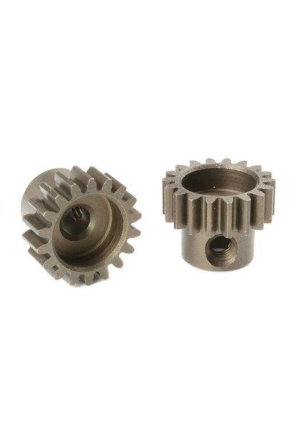 Team Corally - M0.6 Motortandwiel - Kort - Gehard staal - 18 Tanden - Motoras dia. 3.17mm