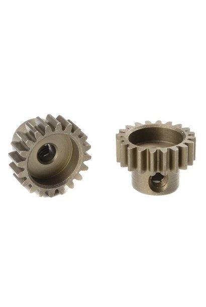Team Corally - M0.6 Motortandwiel - Kort - Gehard staal - 20 Tanden - Motoras dia. 3.17mm