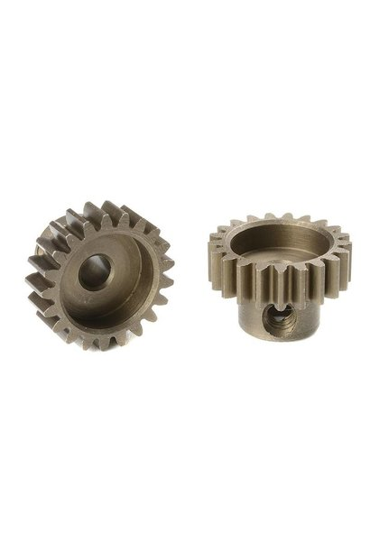 Team Corally - M0.6 Motortandwiel - Kort - Gehard staal - 21 Tanden - Motoras dia. 3.17mm