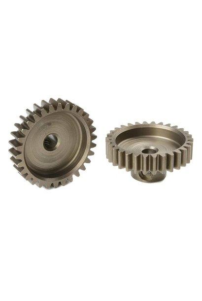 Team Corally - M0.6 Motortandwiel - Kort - Gehard staal - 30 Tanden - Motoras dia. 3.17mm