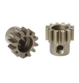 Team Corally Team Corally - M1.0 Motortandwiel - Kort - Gehard staal - 12 Tanden - Motoras dia. 5mm