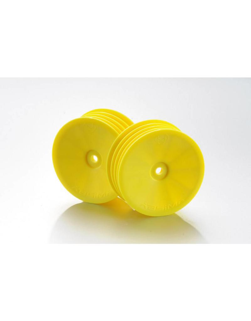 Absima 1:10 Off-Road 2WD racing front rims yellow (2)