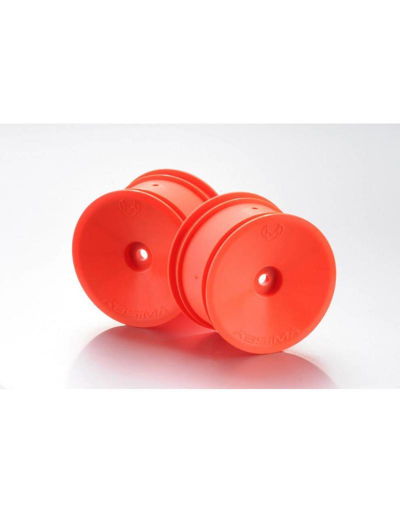 Absima 1:10 Offf-Road 2WD/4WD racing rims rear orange (2)
