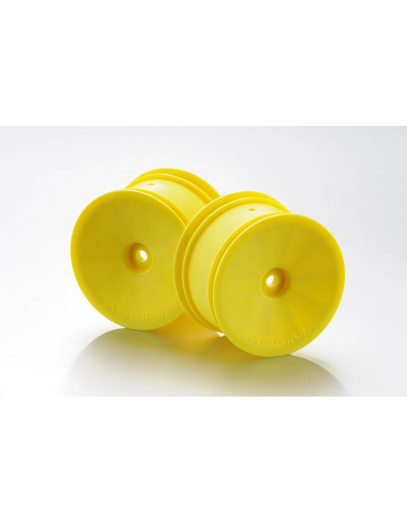 Absima 1:10 Off-Road 4WD racing rear rims 14mm yellow (2)