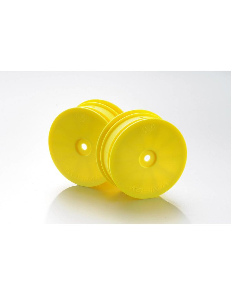 Absima 1:10 Off-Road 4WD racing front rims 14mm yellow (2)