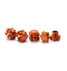 Absima Wheel Hub Set 17mm orange (4)
