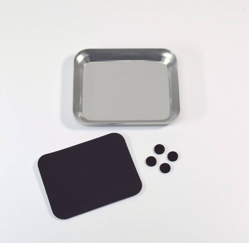 Aluminum bowl with magnet plate silver-1