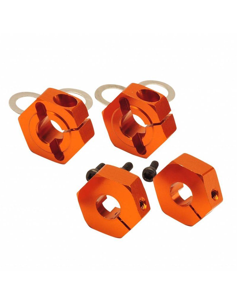 Absima Alu Hex Hub orange 12mm (4) Comp. Buggy 2WD/4WD