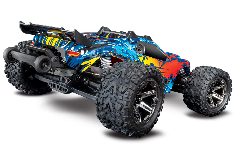Traxxas Rustler 4X4 VXL TQi TSM (no battery/charger), Red, TRX67076-4R-3