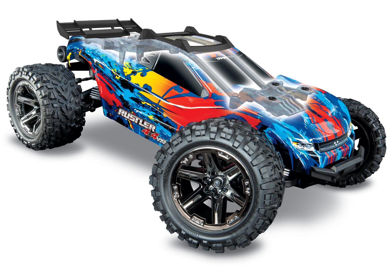 Traxxas Rustler 4X4 VXL TQi TSM (no battery/charger), Red, TRX67076-4R-2