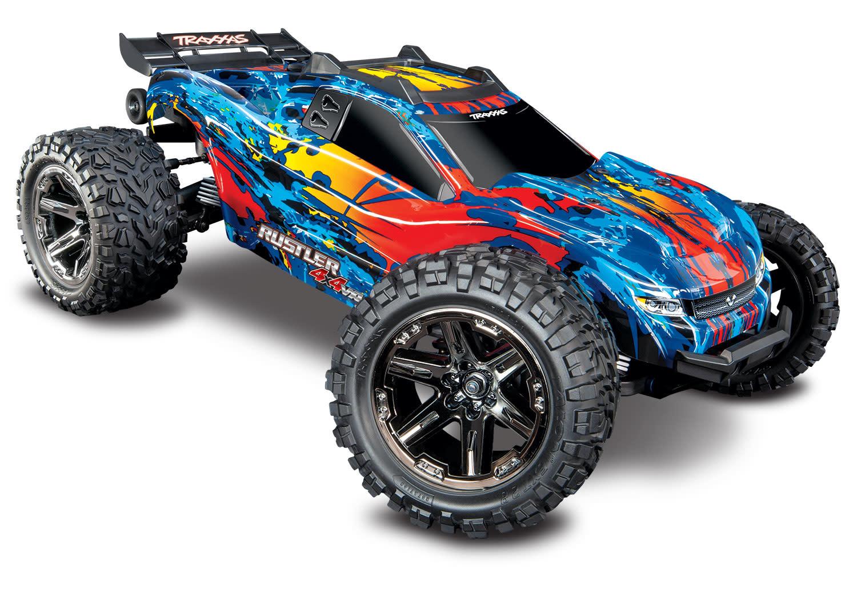 Traxxas Rustler 4X4 VXL TQi TSM (no battery/charger), Red, TRX67076-4R-6