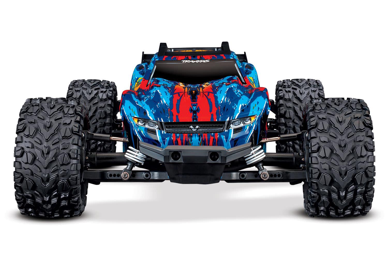 Traxxas Rustler 4X4 VXL TQi TSM (no battery/charger), Red, TRX67076-4R-7