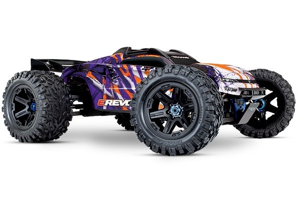 Traxxas E-Revo 2 TQi VXL-6S (no battery/charger), Purple TRX86086-4P-2