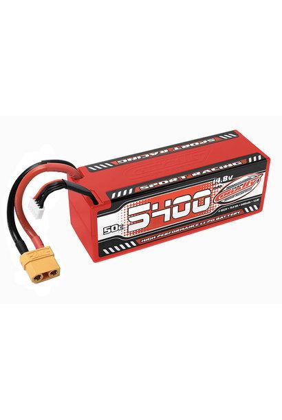 Team Corally - Sport Racing 50C LiPo Battery - 5400mAh - 14.8V - Stick 4S - Hard Wire - XT90