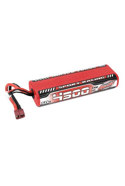 Team Corally - Sport Racing 50C LiPo Battery - 4500mAh - 7.4V - Round 2S Stick - T-Plug