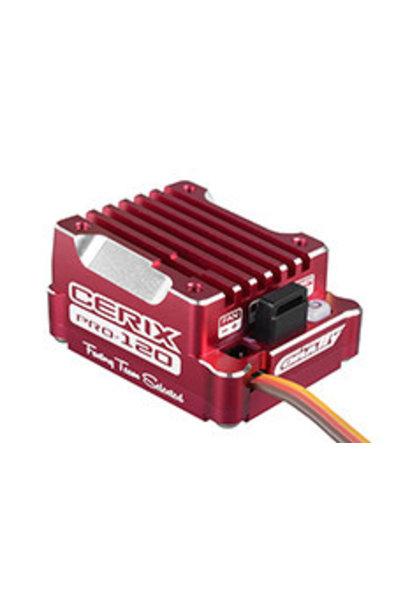"""Team Corally - Cerix PRO 120 """"Racing Factory"""" - 2-3S Electronische regelaar voor sensored en sensorless motoren - 120A"""