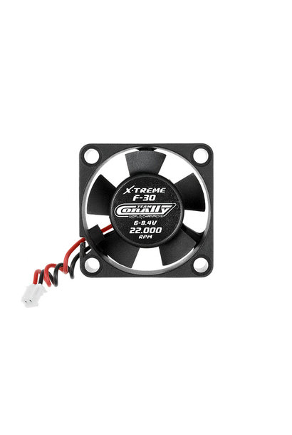 Team Corally - ESC Ultra High Speed Cooling Fan 30mm - 6v-8,4V - Dual ball bearings - ESC connector
