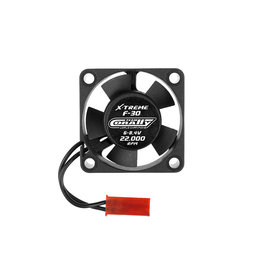 Team Corally Team Corally - ESC Ultra High Speed Cooling Fan 30mm - 6v-8,4V - Dual ball bearings - BEC connector