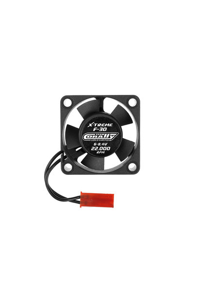 Team Corally - ESC Ultra High Speed Cooling Fan 30mm - 6v-8,4V - Dual ball bearings - BEC connector