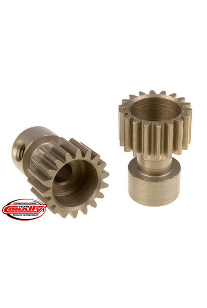 Team Corally - 48 DP Pinion – Long Boss – Hardened Steel – 18 Teeth  - ø3.17mm