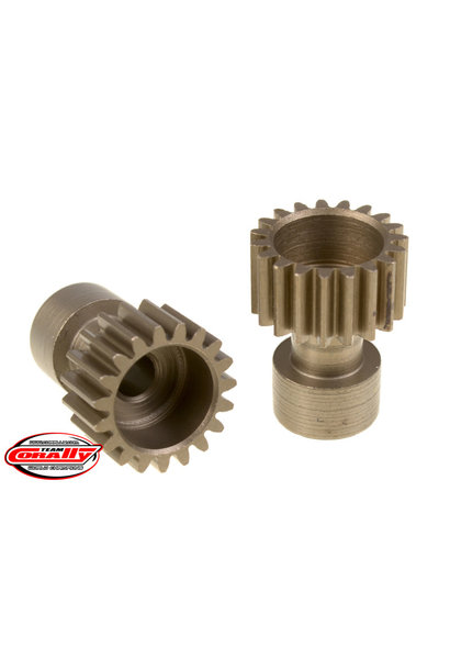 Team Corally - 48 DP Pinion – Long Boss – Hardened Steel – 19 Teeth  - ø3.17mm