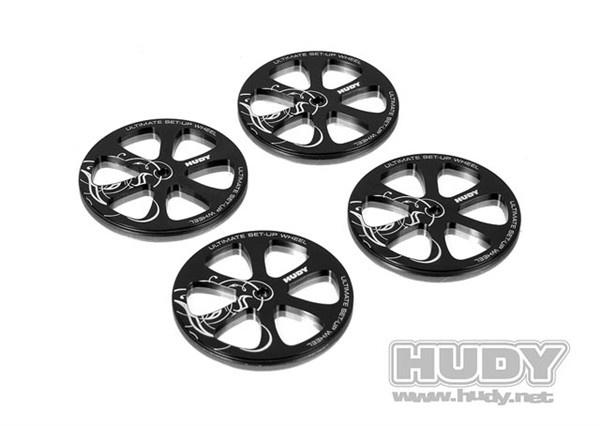 Alu Set-Up Wheel For 1/10 Rubber Tires (4), H109370-2