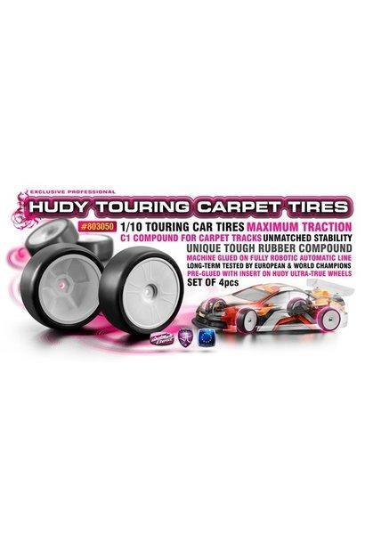 HUDY 1/10 TOURING CARPET TIRES C1 (4)