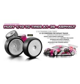 Hudy HUDY 1/10 TC TIRES A1-36 - ASPHALT (4)