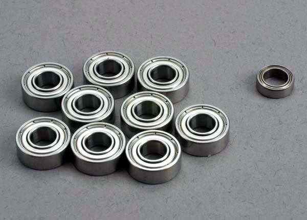 Ball bearing set: 5x11x4mm (9)/ 5x8x2.5mm (1), TRX1259-2