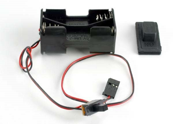 Battery holder with on/off switch/ rubber on/off switch cove, TRX1523-2
