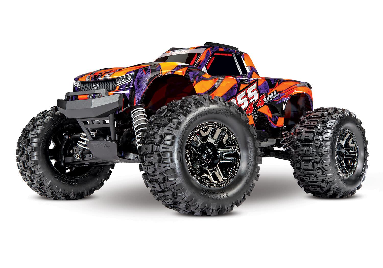 Traxxas Hoss 1/10 Scale 4WD Brushless Electric Monster Truck, VXL-3S, TQi - Orange TRX90076-4O-2