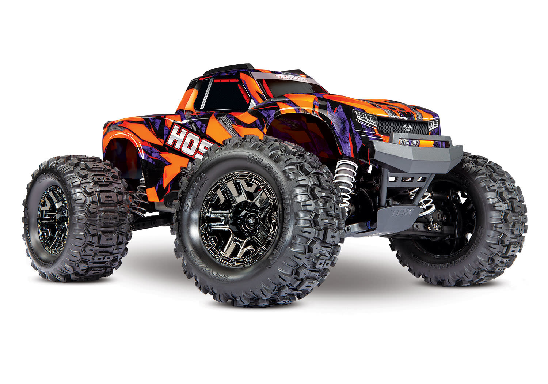 Traxxas Hoss 1/10 Scale 4WD Brushless Electric Monster Truck, VXL-3S, TQi - Orange TRX90076-4O-7
