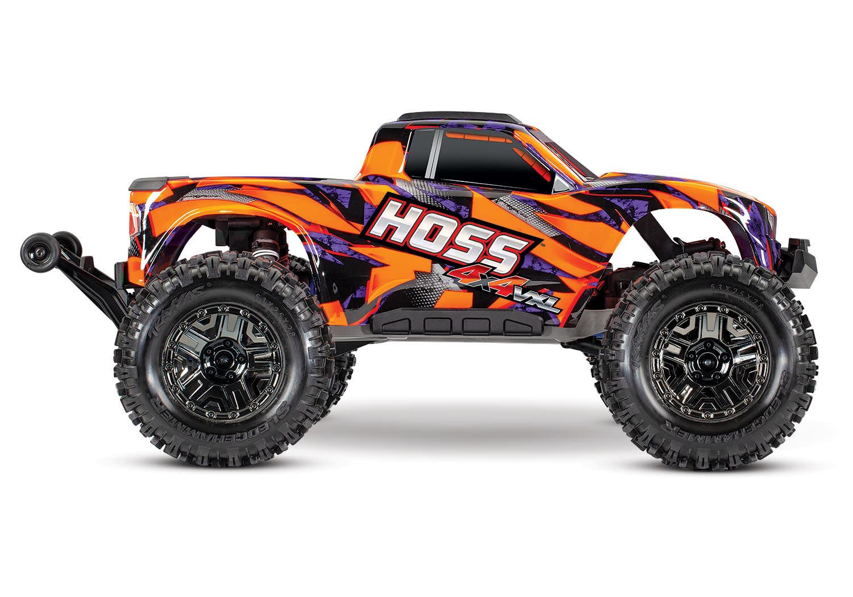 Traxxas Hoss 1/10 Scale 4WD Brushless Electric Monster Truck, VXL-3S, TQi - Orange TRX90076-4O-10