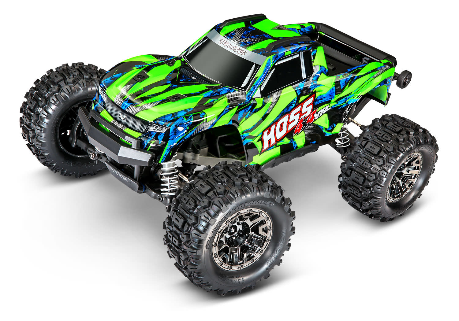 Traxxas Hoss 1/10 Scale 4WD Brushless Electric Monster Truck, VXL-3S, TQi - Green TRX90076-4G-2
