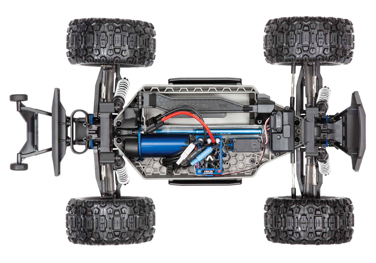 Traxxas Hoss 1/10 Scale 4WD Brushless Electric Monster Truck, VXL-3S, TQi - Green TRX90076-4G-4