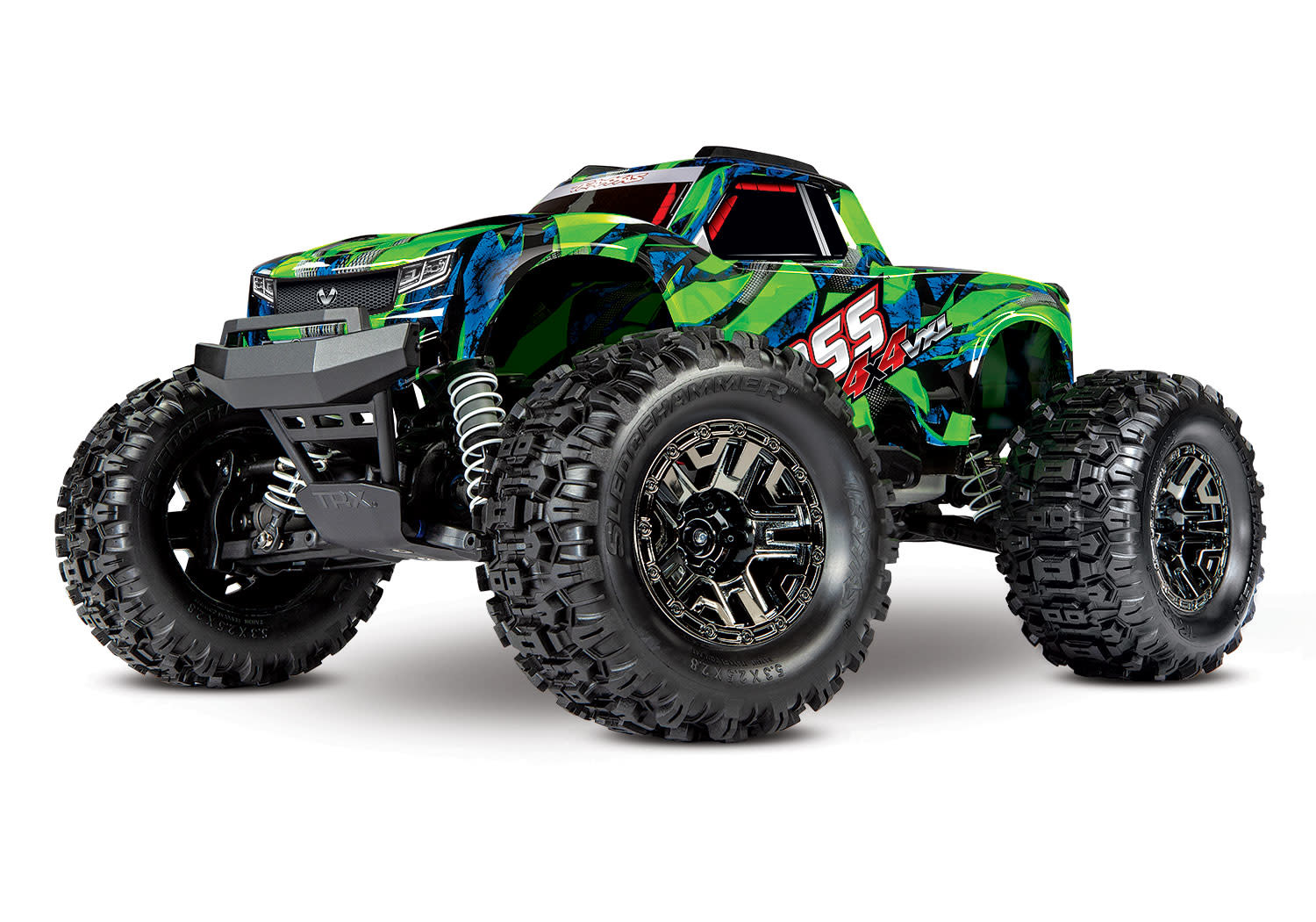 Traxxas Hoss 1/10 Scale 4WD Brushless Electric Monster Truck, VXL-3S, TQi - Green TRX90076-4G-6