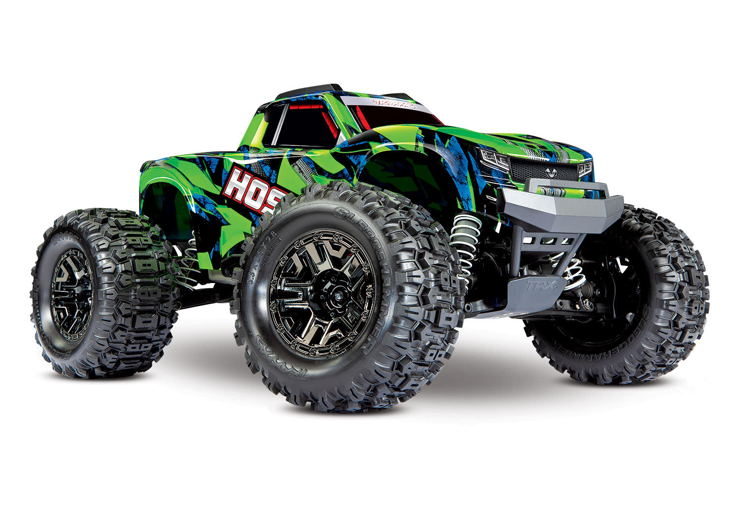 Traxxas Hoss 1/10 Scale 4WD Brushless Electric Monster Truck, VXL-3S, TQi - Green TRX90076-4G-8