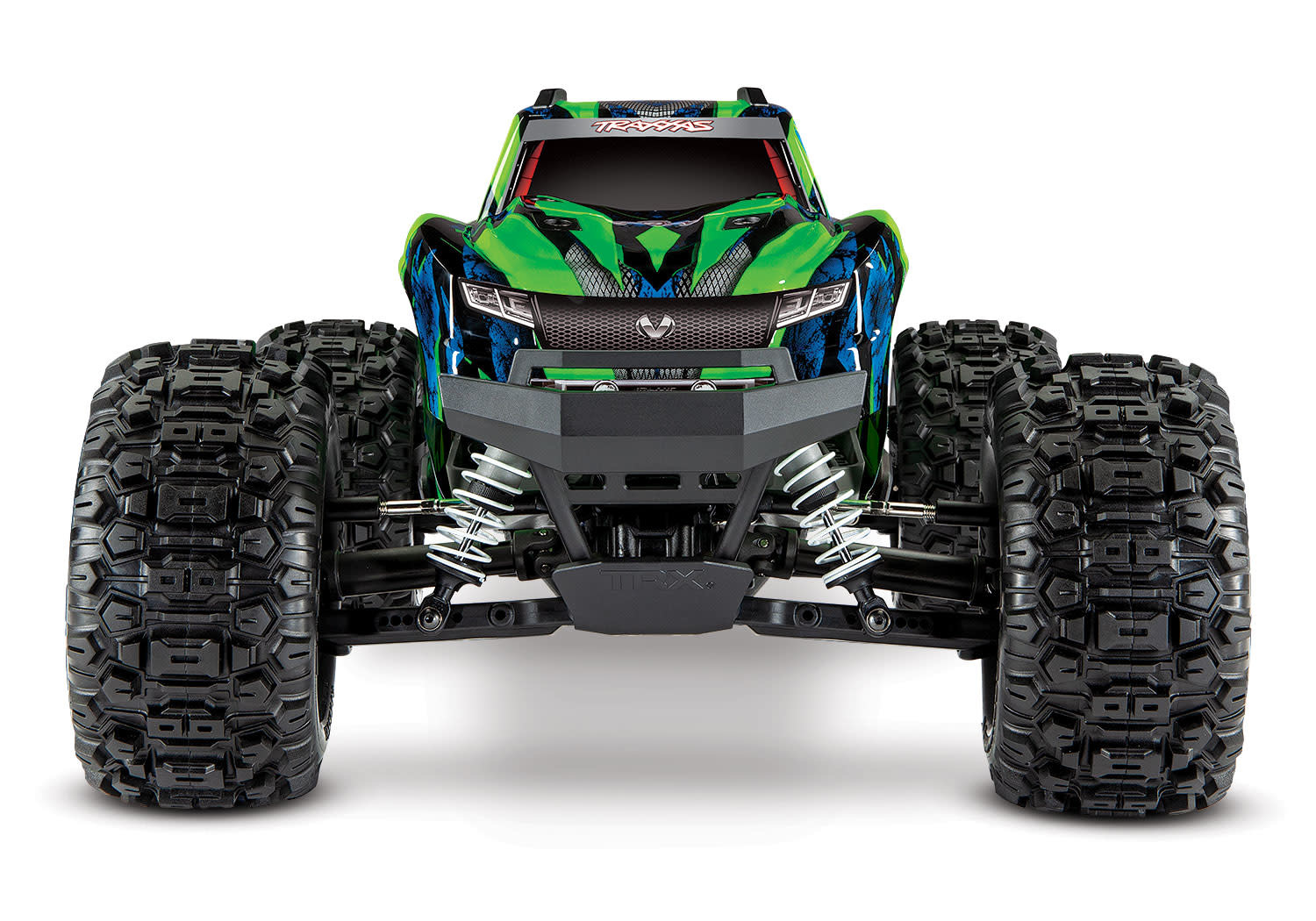 Traxxas Hoss 1/10 Scale 4WD Brushless Electric Monster Truck, VXL-3S, TQi - Green TRX90076-4G-9