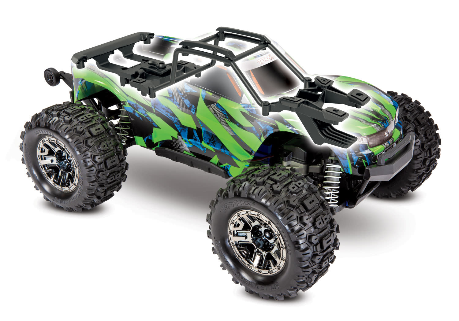 Traxxas Hoss 1/10 Scale 4WD Brushless Electric Monster Truck, VXL-3S, TQi - Green TRX90076-4G-11