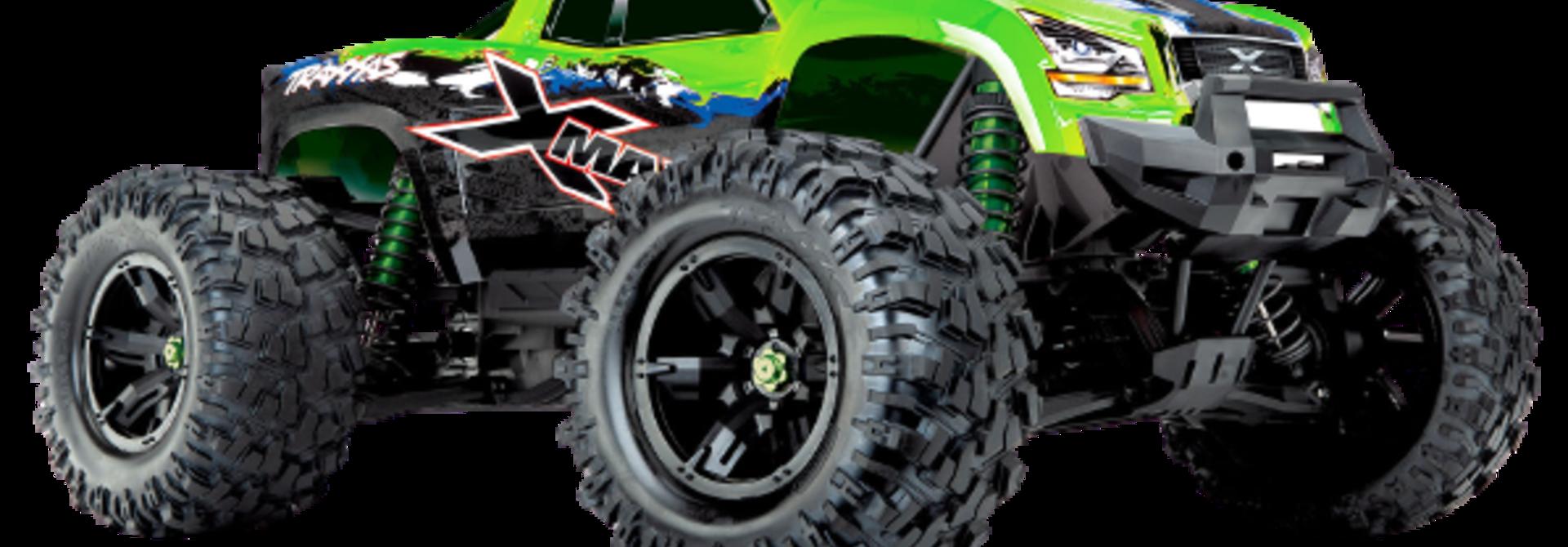 Traxxas X-Maxx 4WD VXL-8S Monstertruck TQi TSM (no battery/charger), Green V2 TRX77086-4GRNX