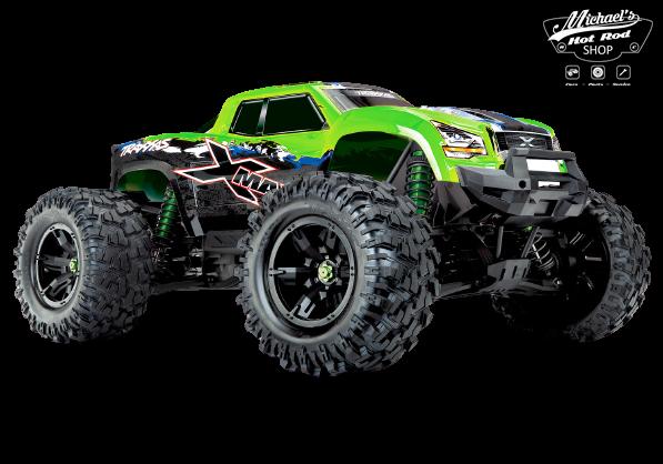 Traxxas X-Maxx 4WD VXL-8S Monstertruck TQi TSM (no battery/charger), Green V2 TRX77086-4GRNX-1