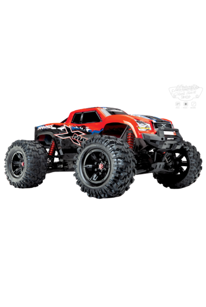 Traxxas X-Maxx 4WD VXL-8S Monstertruck TQi TSM (no battery/charger), RedX V2 TRX77086-4REDX